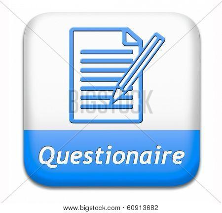 questionnaire list of FAQ questions pop poll