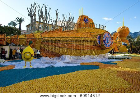 Citrus Exhibition At The Lemon Festival Of Menton