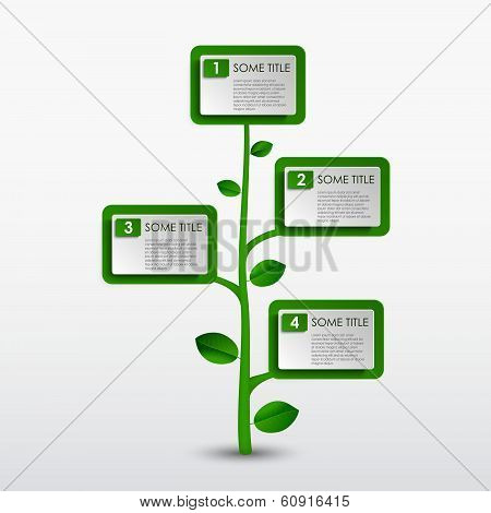Abstract progress eco green tree template