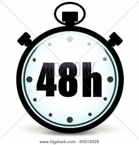 48H Stopwatch Icon