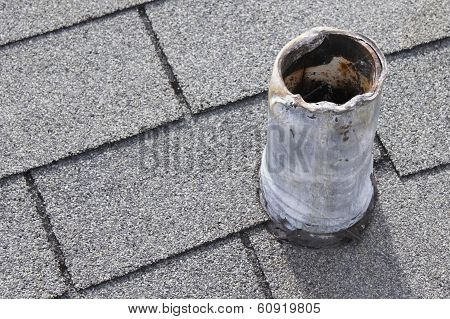 Roof Vent Stack That Needs Repair
