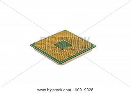 Computer's Processor On White