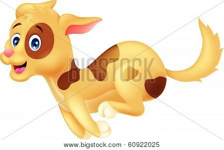 Cute dog cartoon running