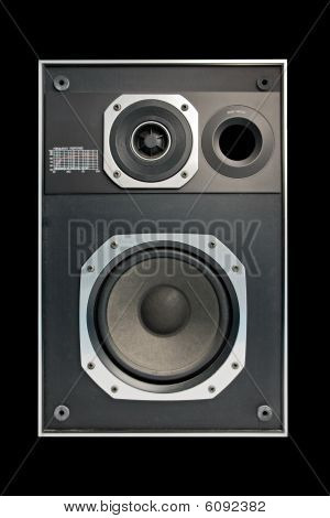 Two Way Hifi Audio Speaker In Black Background