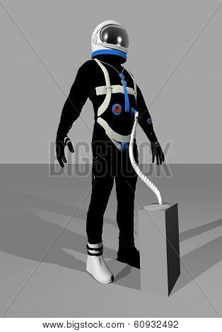 Gemini space suit - 3D render