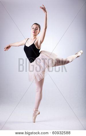 Ballerina Doing Arabesques
