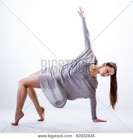 Contemporary Dancer Practising