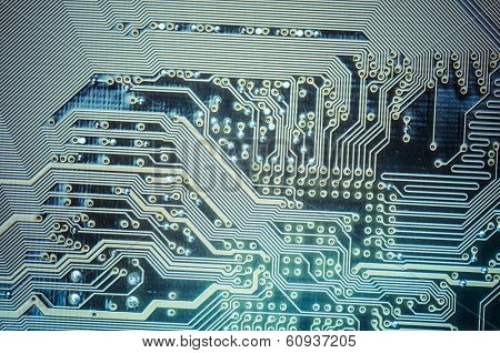 Microcircuit, Motherboard, computer and electronics modern background