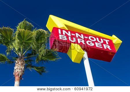 In-n-out Burger Exterior Sign