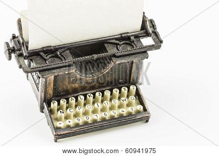 Bronze Typewriter Minature
