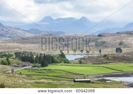 landscape near Loch Ewe, Highlands, Scotland
