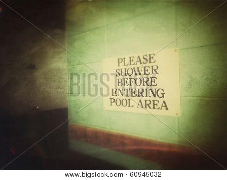 Sign in locker room