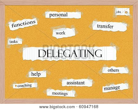 Delegating Corkboard Word Concept