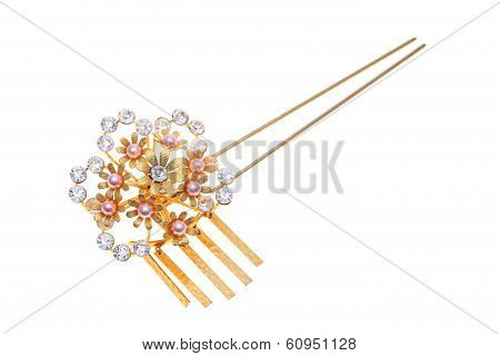 antique gold hairpin