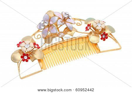 old gold comb