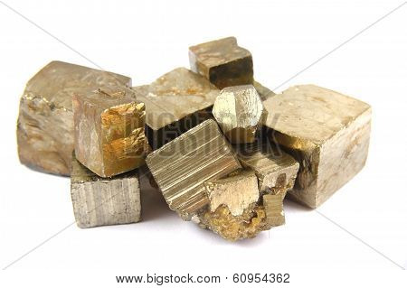 Gold (pyrite Mineral) Isolated
