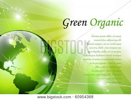 Elegant green background - vector illustration