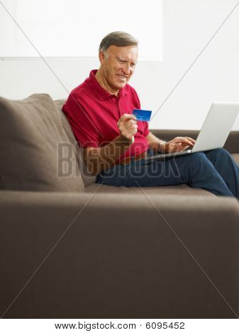 Senior Man Doing Online Shopping