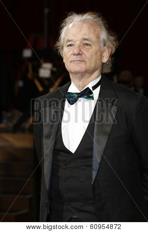 LOS ANGELES - MAR 2:: Bill Murray  at the 86th Annual Academy Awards at Hollywood & Highland Center on March 2, 2014 in Los Angeles, California