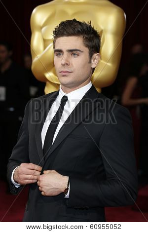 LOS ANGELES - MAR 2:: Zac Efron  at the 86th Annual Academy Awards at Hollywood & Highland Center on March 2, 2014 in Los Angeles, California
