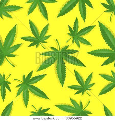 Seamless marijuana cannabis pattern