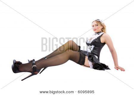 Atractiva Maid posando