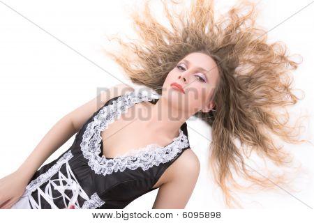 Attractive Maid Posing