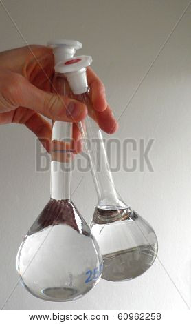 Volumetric flask.
