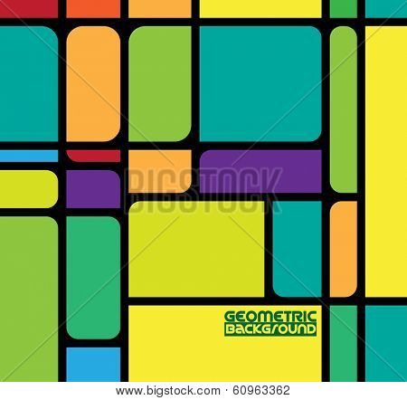 Abstract geometric colorful vector pattern