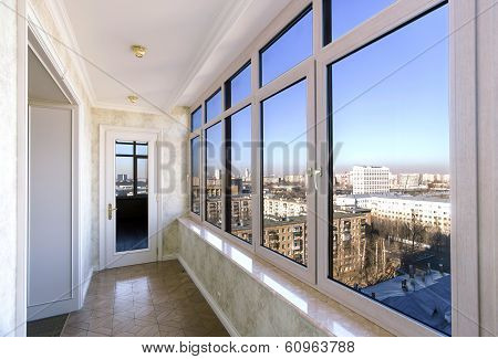 View To The City Through New Windows