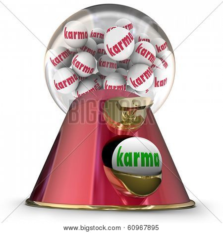 Karma Word Gum Ball Machine Good Luck Fate Destiny