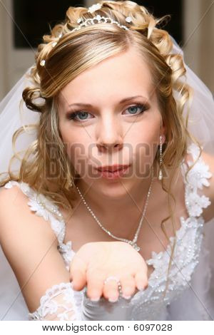 Bride with air kiss
