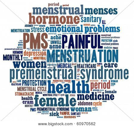 PMS in word collage