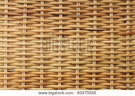 Woven rattan texture background