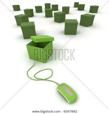 Online bestellen In grün