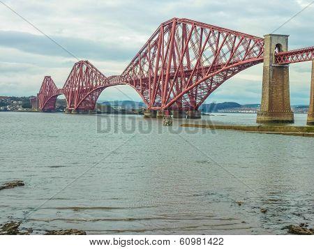 The Forth Railway Bridge Near Edinburgh, Scotland