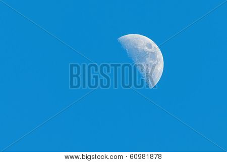 Half Moon Phase During Day