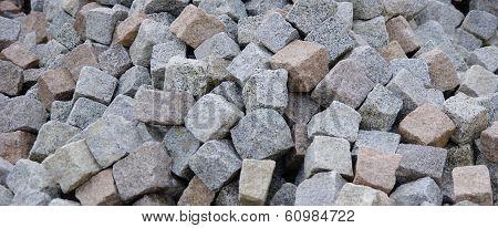 Granite Pavers  In A Heap