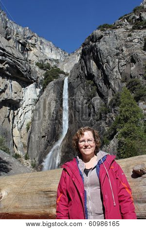 Woman at Yosemite Falls California