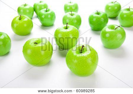 Close-up Of An Apple Green