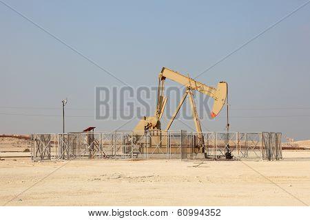 Oil Pump Jack In The Desert
