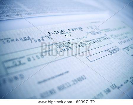 flight coupon close-up, shallow DOF, focus on