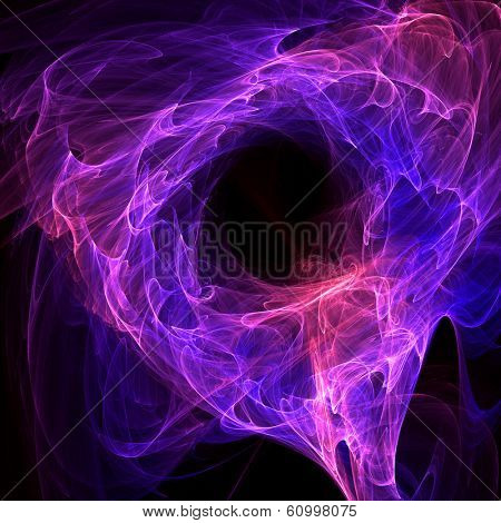 energy abstraction over black background - hq render
