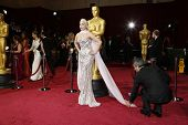 LOS ANGELES - MAR 2:: Lady Gaga  at the 86th Annual Academy Awards at Hollywood & Highland Center on