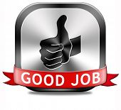 foto of job well done  - good job great work well done button - JPG