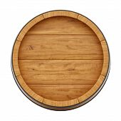 stock photo of whiskey  - render of a wine barrel from top  - JPG