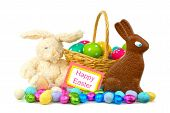 pic of easter candy  - Happy Easter card with Easter basket - JPG