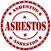 stock photo of asbestos  - Grunge rubber stamp with word Asbestos - JPG