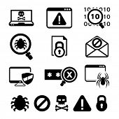 pic of maliciousness  - Digital criminal icons set  - JPG