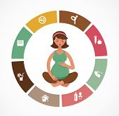 image of artificial insemination  - Pregnancy and birth infographics and icon vector set - JPG